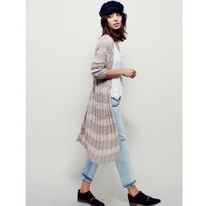 Free People Free Spirit Striped Duster Cardigan